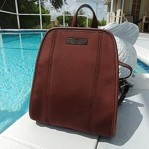 Coach Neoprene & Leather Backpack Brown 6215